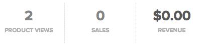 sellfy zero sales