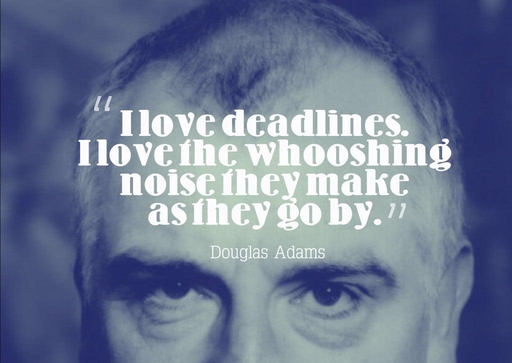 Douglas Adams deadlines nanowrimo