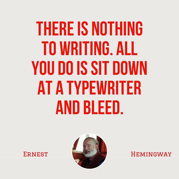 Ernest Hemingway bleed