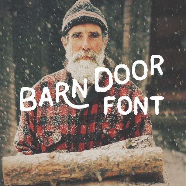 barn door font
