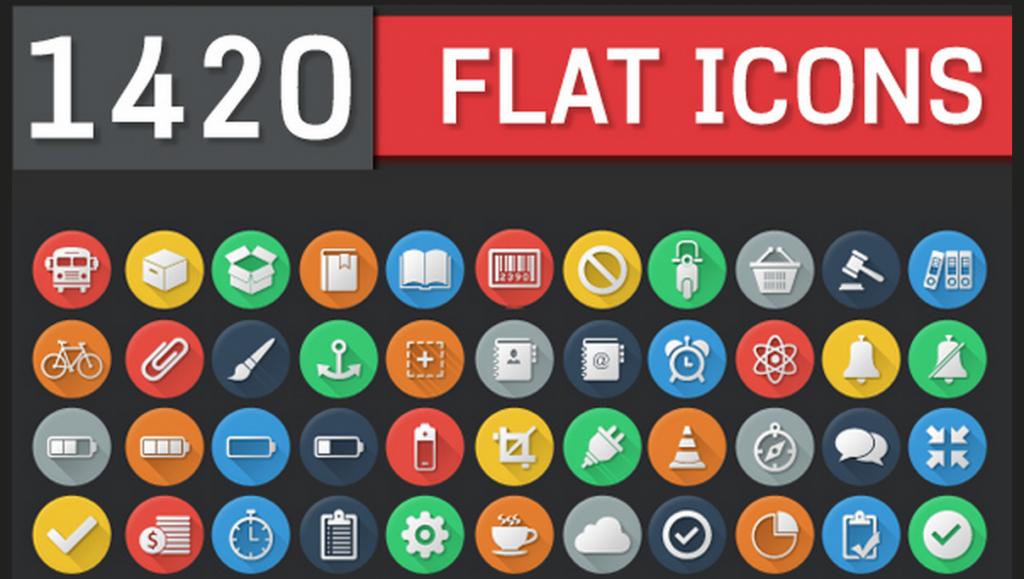 1420 flat icons