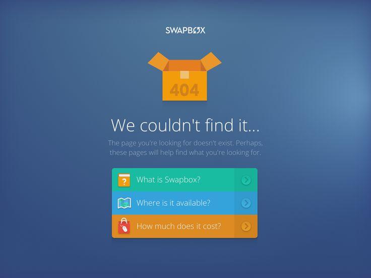 SwapBox 404 page