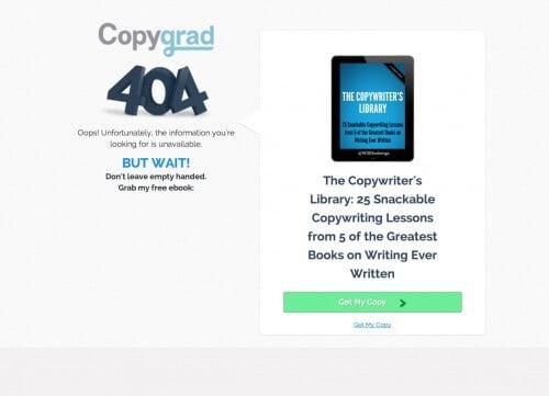 404 page optimization