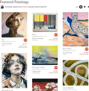 selling canvas paintings on Saatchi Art