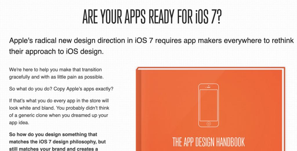 App Design Handbook Headline