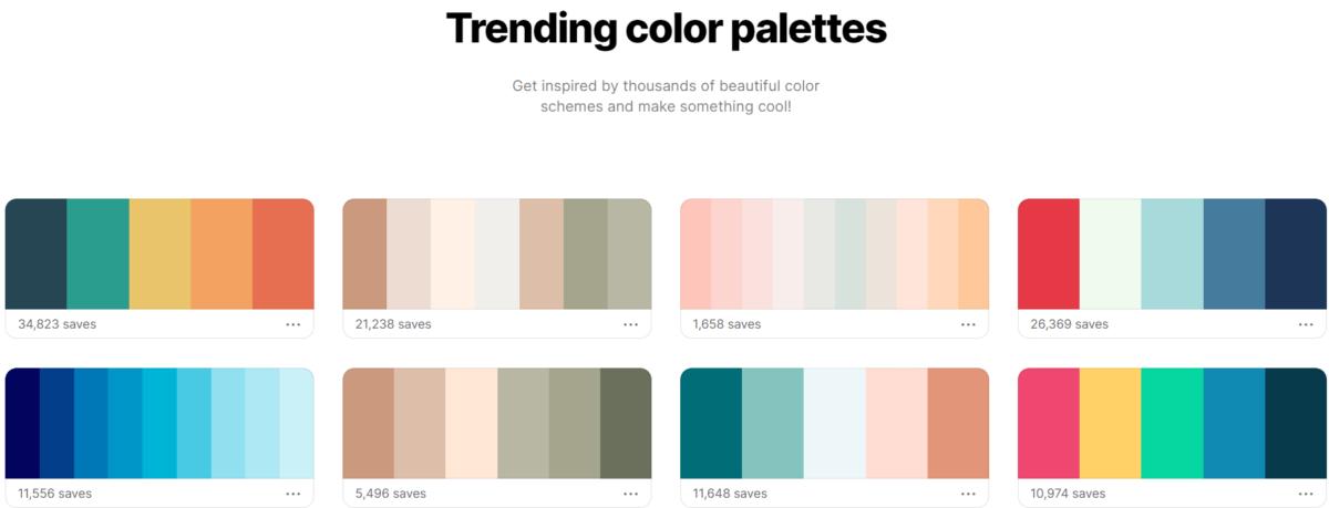 trending color palette 2021